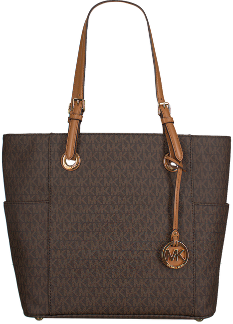 MICHAEL KORS Sac à main EW SIGNATURE TOTE en marron - large