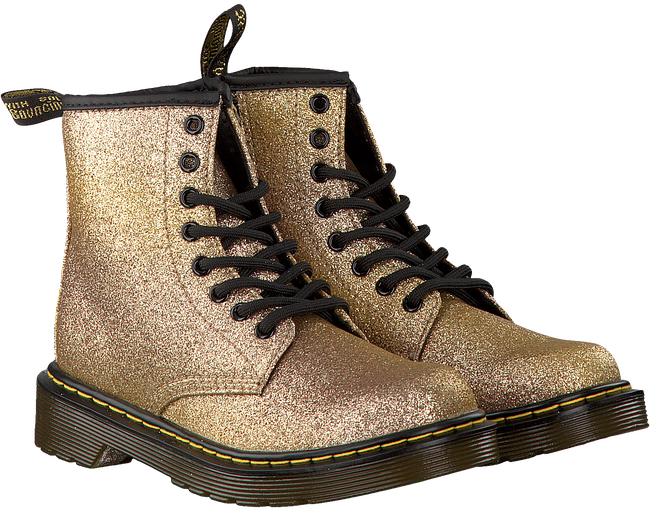 DR MARTENS Bottines à lacets DELANEY/BROOKLY en or - large