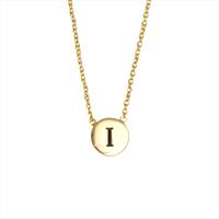 ALLTHELUCKINTHEWORLD Collier CHARACTER NECKLACE LETTER GOLD en or - medium