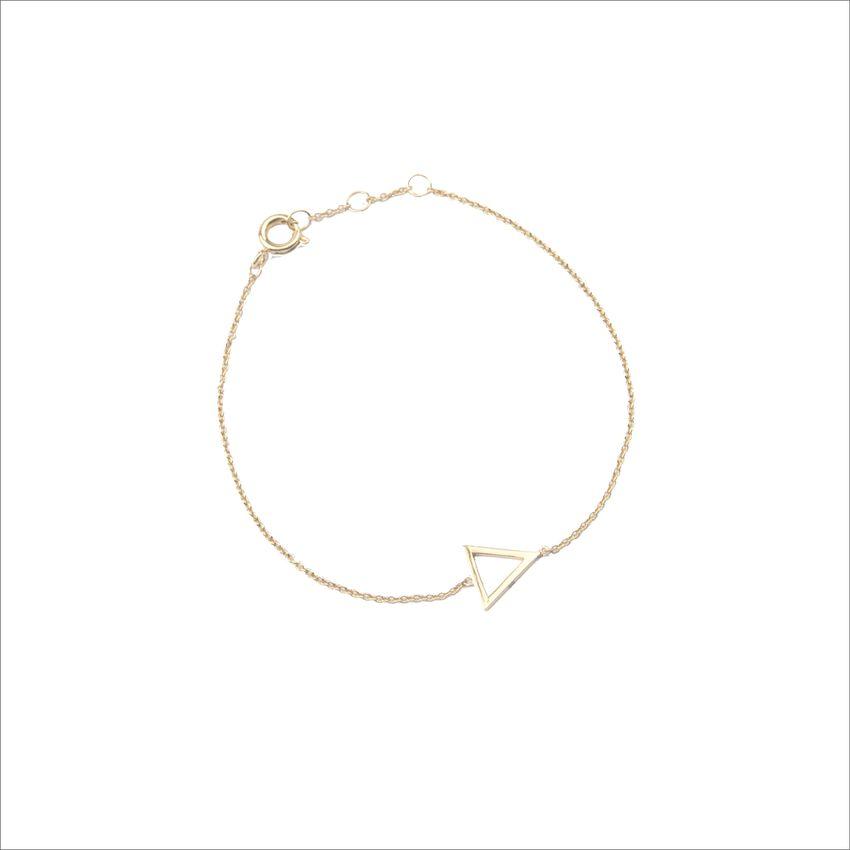 ALLTHELUCKINTHEWORLD Bracelet SOUVENIR BRACELET OPEN TRIANGL en or - larger