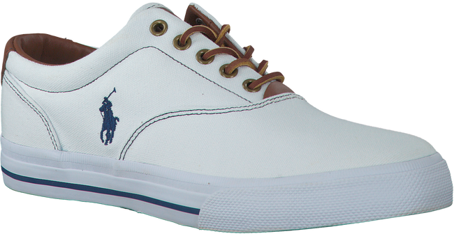 POLO RALPH LAUREN Chaussures à lacets VAUGHN en blanc - large