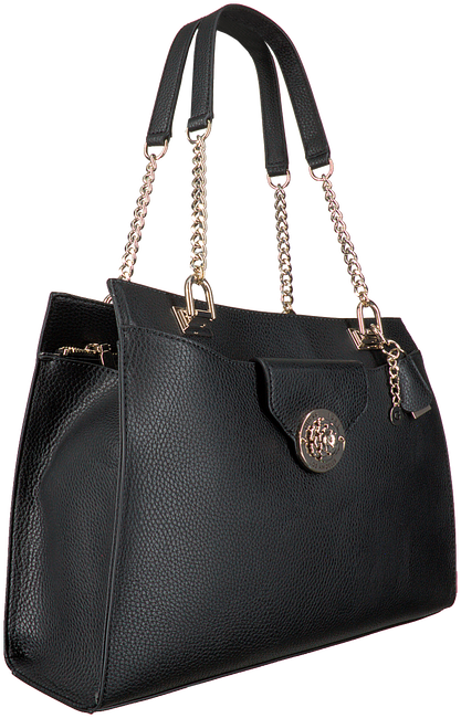 Zwarte GUESS Handtas BELLE ISLE SOCIETY CARRYALL  - large