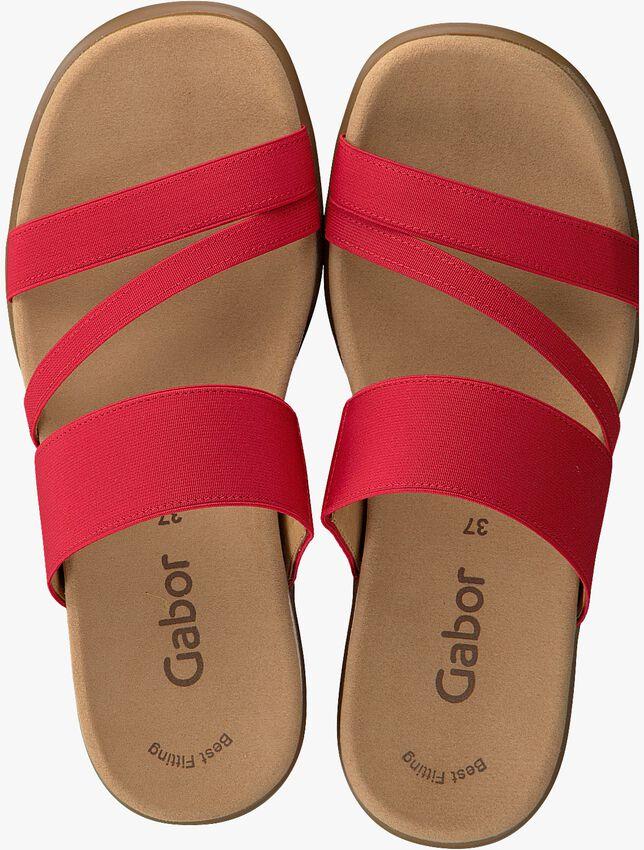 GABOR Tongs 702 en rouge - larger
