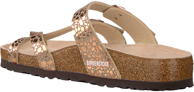 BIRKENSTOCK PAPILLIO Tongs MAYARI METALLIC STONES en or - large