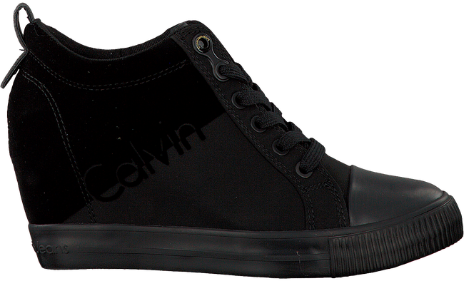 CALVIN KLEIN Baskets R0647 en noir - large