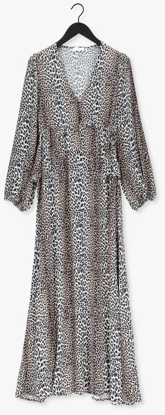 Beige NOTES DU NORD Maxi jurk ALICIA LEOPARD DRESS  - larger