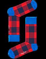 Rode HAPPY SOCKS Sokken LUMBERJACK - medium