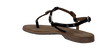 LAZAMANI Sandales 75.211 en noir - small