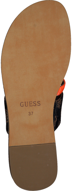 GUESS Tongs GENERA en marron  - large