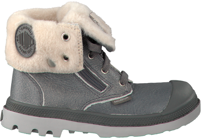 PALLADIUM Bottillons BAGGY LEATHER ZIP KIDS en gris - large