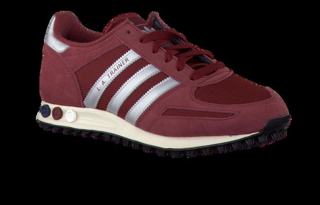 red ADIDAS shoe LA TRAINER  - large