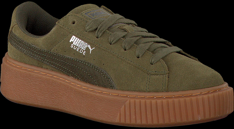6f25ed89b8e Groene PUMA Sneakers SUEDE PLATFORM ANIMAL - Omoda.be