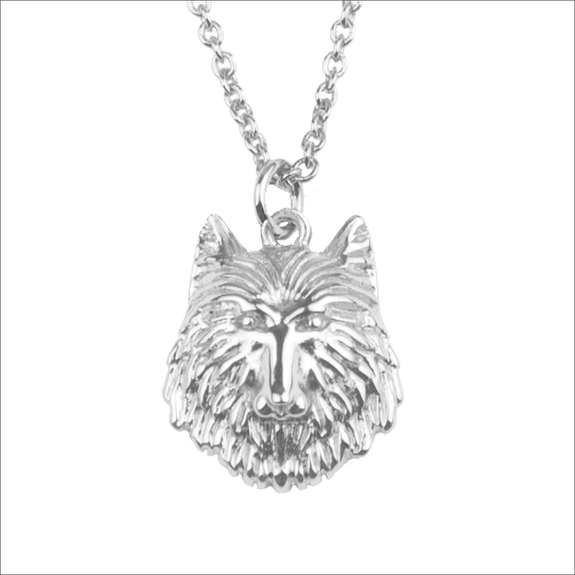 ALLTHELUCKINTHEWORLD Collier SOUVENIR NECKLACE WOLF en argent - large