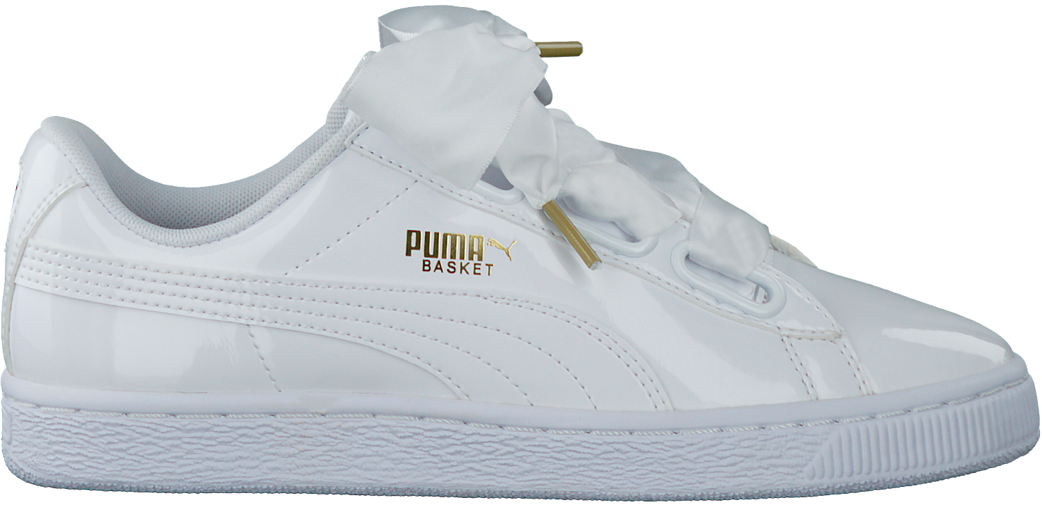 2f95780baa6 Witte PUMA Sneakers BASKET HEART PATENT - Omoda.be