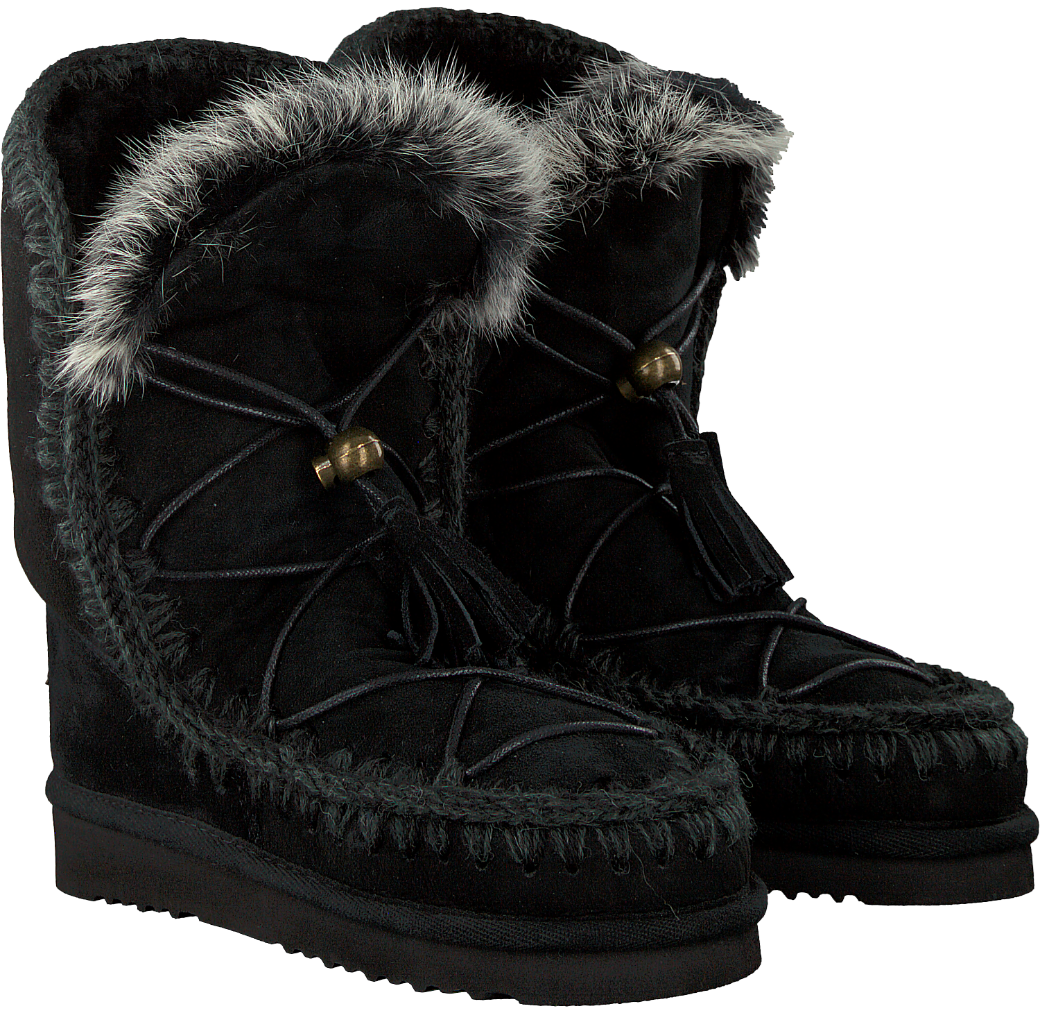 CATCHER UP fourrure DREAM Bottes ESKIMO R en MOU LACE noir WD9IH2EY
