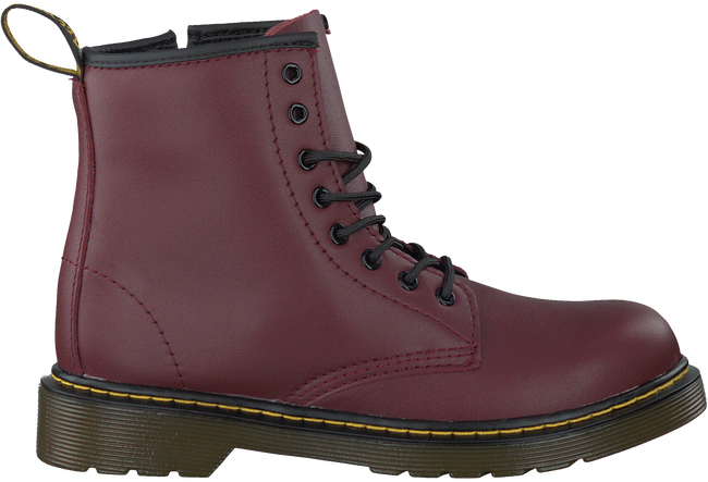 DR MARTENS Bottines à lacets DELANEY/BROOKLY en rouge - large