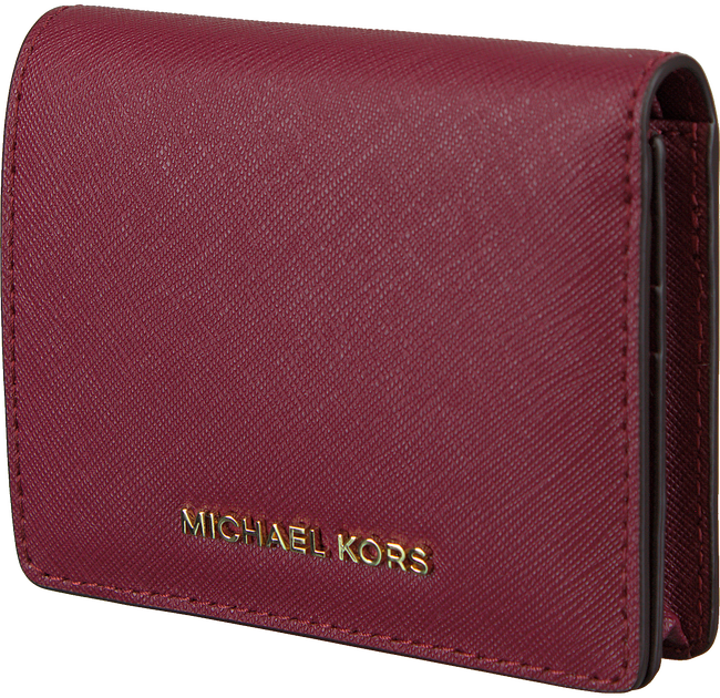 MICHAEL KORS Porte-monnaie FLAP CARD HOLDER en rouge - large