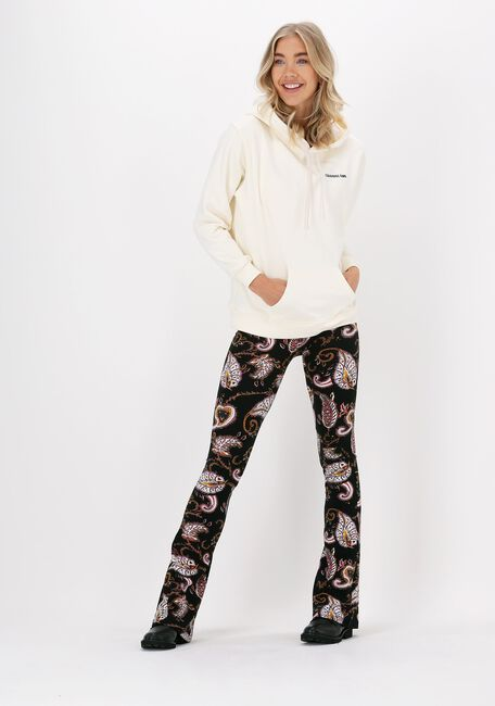 Zwarte COLOURFUL REBEL Flared broek PAISLEY PEACHED FLARE PANTS - large