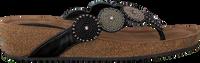 LAZAMANI Tongs 75.455 en noir  - medium