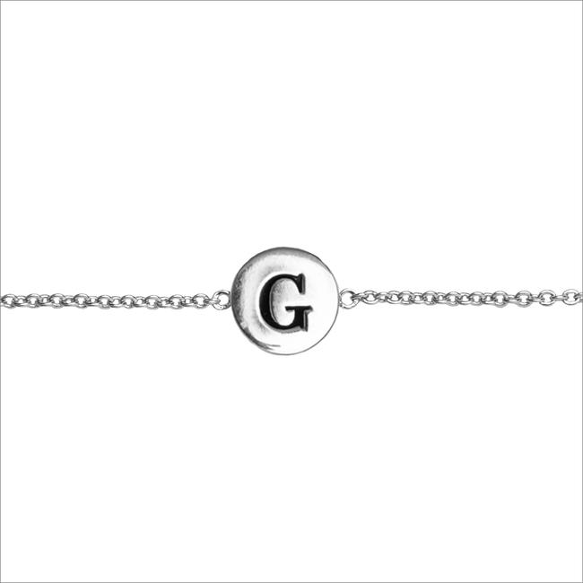 ALLTHELUCKINTHEWORLD Bracelet CHARACTER BRACELET LETTER SILV en argent - large