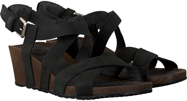 Zwarte TEVA Sandalen W MAHONIA WEDGE CROSS  - large