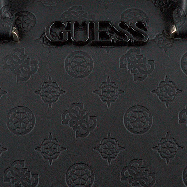 Zwarte GUESS Handtas JANELLE BOX SATCHEL  - large