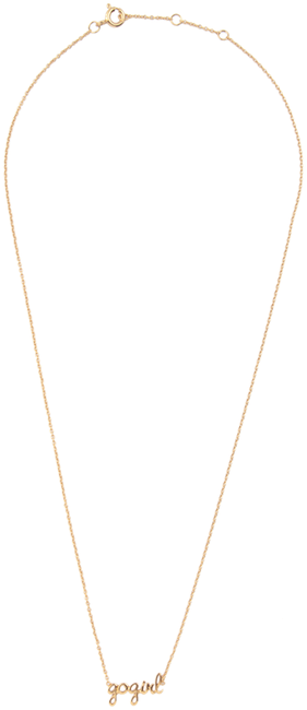 ALLTHELUCKINTHEWORLD Collier URBAN NECKLACE GOGIRL en or - large