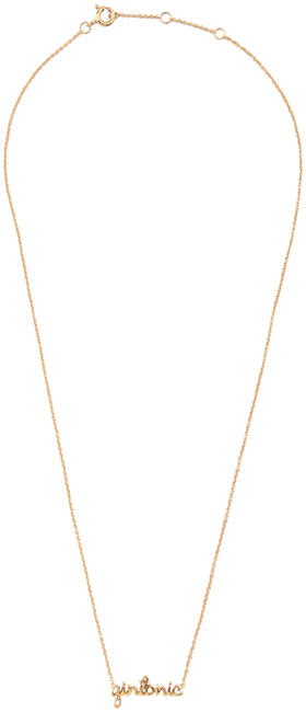 ALLTHELUCKINTHEWORLD Collier URBAN NECKLACE GINTONIC en or - large