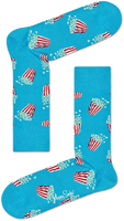 Blauwe HAPPY SOCKS Sokken POPCORN  - medium