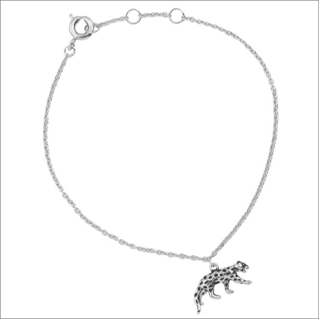 ALLTHELUCKINTHEWORLD Bracelet SOUVENIR BRACELET LEOPARD en argent - large