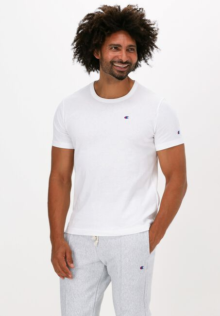 Witte CHAMPION T-shirt SMALL C LOGO T-SHIRT - large