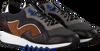 FLORIS VAN BOMMEL Baskets 16092 en noir  - small