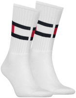 TOMMY HILFIGER Chaussettes TH FLAG en blanc - medium