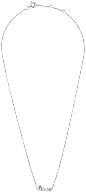 ALLTHELUCKINTHEWORLD Collier URBAN NECKLACE DISCO en argent - large