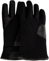 UGG Gants FABRIC AND LEATHER GLOVE en noir - medium