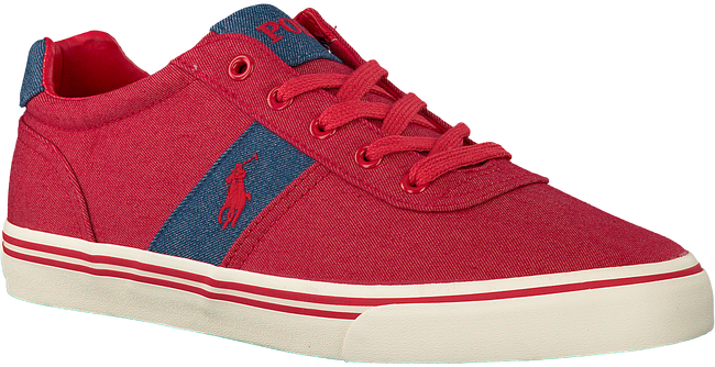 POLO RALPH LAUREN Baskets HANFORD en rouge - large