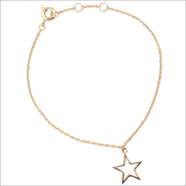 ALLTHELUCKINTHEWORLD Bracelet SOUVENIR BRACELET STAR en or - large