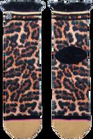 Bruine XPOOOS Sokken LUCILLE LEOPARD  - medium