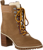 TOMMY HILFIGER Bottines à lacets SPORTY OUTDOOR MID HEEL LACE U en taupe  - small