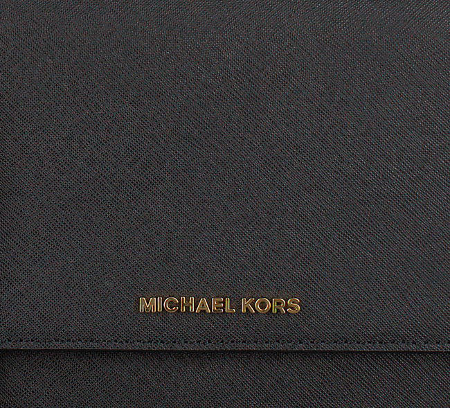 MICHAEL KORS Sac bandoulière LG GUSSET CROSSBODY en noir - large