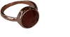 B.LOVED Anneau ROUND QUARTZ RING en marron - small