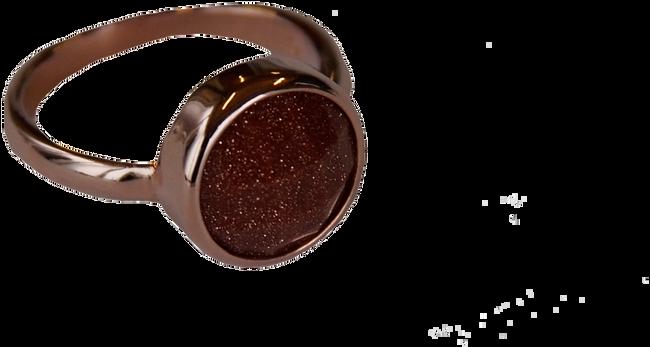B.LOVED Anneau ROUND QUARTZ RING en marron - large