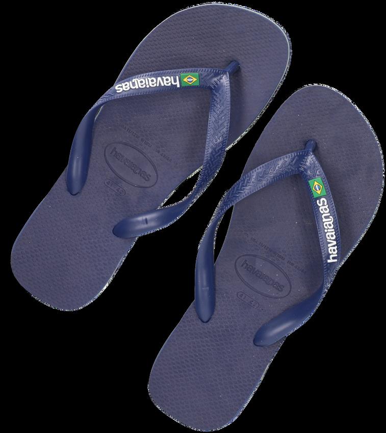 Blauwe HAVAIANAS Slippers BRASIL LOGO  - larger