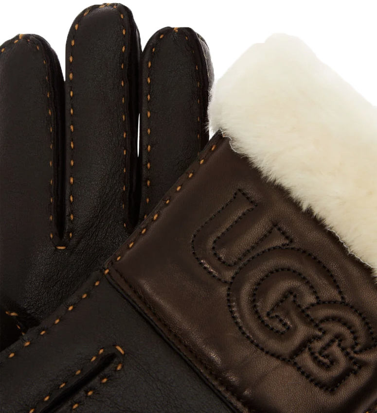 UGG Gants SHEEPSKIN LOGO GLOVE en noir - larger