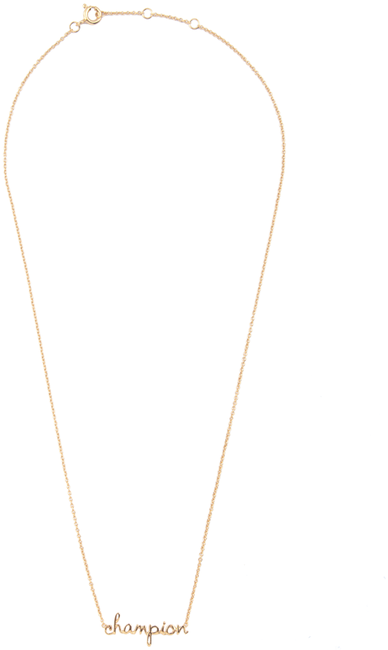ALLTHELUCKINTHEWORLD Collier URBAN NECKLACE CHAMPION en or - large