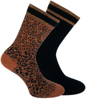 XPOOOS Chaussettes BELLA en marron  - medium