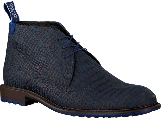 FLORIS VAN BOMMEL Bottines à lacets 10203 en bleu  - large