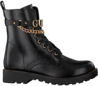 Zwarte GUESS Veterboots NINA  - medium