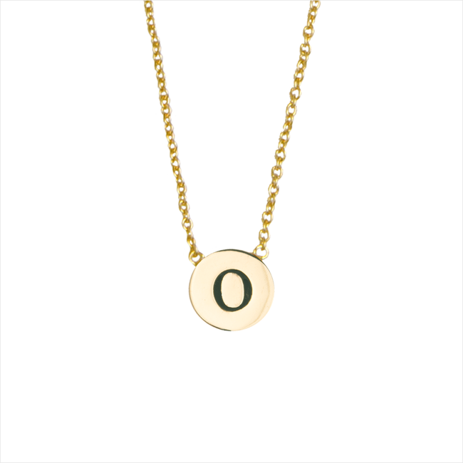 ALLTHELUCKINTHEWORLD Collier CHARACTER NECKLACE LETTER GOLD en or - large