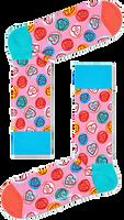 Roze HAPPY SOCKS Sokken SWEET HEARTS  - medium